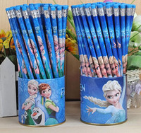 Wholesale 5pieces standard wooden HB pencils with eraser writing pencil stationary Rlapices Zpencils Elapiz N Lapices Painted Pencils cupboards