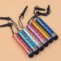 Wholesale Trendy Color Lanyard Dust Plug Mobile Phones Tablet Pens Portable Capacitive Touch Screen Pen Stylus Pen Papelaria