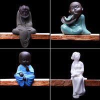 art figure studies - Chinese ceramic handicraft decoration living room Buddha tea pet figure decoration small Zen monk creative study