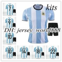 argentina away kit - best quality Argentina home soccer jersey kits MESSI AGUERO DI MARIA HIGUAIN Argentina away football uniform embroidery men shirt
