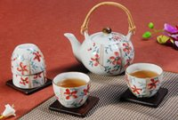 Wholesale High Temperature Underglaze Color Custom Made Country style Hand Painted Ceramic Japanese tea set