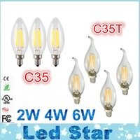 angle energy - 2W W W Edison LED Filament Bulbs Dimmable E12 E14 E27 Led Candle Lights Lamp Angle Energy Saving AC V