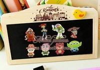 animation story - 100PCS Toy Story cartoon Fridge Magnets PVC Magnetic Sticker Creative Animation fridge magnet sticker Office School Supplies Kids Toys