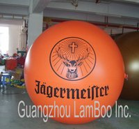 Wholesale Top Selling meters Orange Inflatable Advertising Helium Balloon with your BIG Logo DHL
