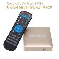 Wholesale HM8 Amlogic S905X Android Marshmallo TV BOX Preinstalled KODI K TV BOX G G IEEE b g n WIFI LAN