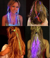 Wholesale Hair Braid Hair Decoration Fiber Luminous Braid Halloween Christmas Party Holiday KTV Colorful Hair Accessories LED Flashing Hair