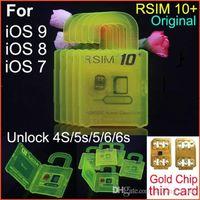 Wholesale R SIM10 plus RSIM R SIM R SIM10 For iphone S plus S C G S IOS9 IOS GSM CDMA WCDMA G G G unlock sim R