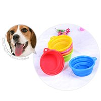 Wholesale Pet Dog bowl Floding Silicone portable dog bowls for the dog eating foods drinking water bowl pet bowls DHL free