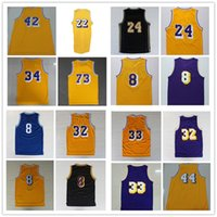 Wholesale Vintage Yellow Purple Blue Basketball Jersey Top Quality Stitched Logos Throwback Basketball Jersey