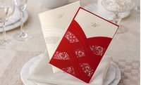 Wholesale New Arrival Invitation Cards For Party Hollow Decoration Red Customize Wedding Invitation Cards