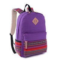 Wholesale Vintage Girl School Bags For Teenagers Cute Canvas Women Backpack Mochila Feminina Casual Bag School Backpack