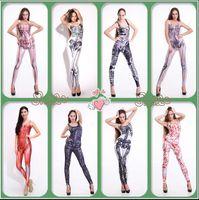 active human - Harajuku D print sexy jumpsuit women rompers new arrivels bodycon jumpsuit sexy catsuit Human skeleton skull slim jumpsuit