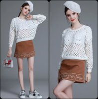 beaded sweaters - In the autumn of new women s fashion heavy Beaded sequined openwork sweater So