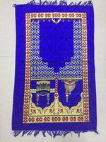 Wholesale 110cm X cm Prayer rug Muslims use prayer mat Sajjadah al Salat New listing portable prayer carpet Muslims use