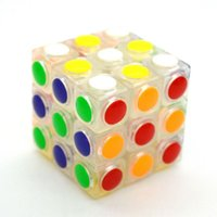Wholesale 3x3x3 Clear Dot Style Puzzles Magic Cubes Child Education Professional Game Toy Magico Cubo