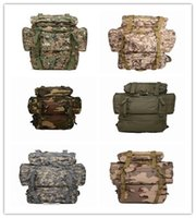 Wholesale 2016 Mens Outdoor Waterproof Molle BagpackOutdoor mountaineering bags L large capacity tactical camouflage backpack shoulders Tactical Ba