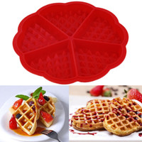 heart shape pan - 100pcs Heart Shape Waffle Mold Cavity Silicone Oven Pan Baking Cookie Cake Muffin Cooking Tools Kitchen Accessories Supplies ZA0491