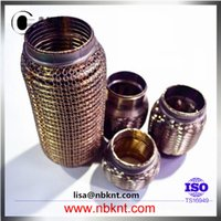 automobile tubes - Automobile stainless steel wire mesh coating corrugated pipe exhaust flexible tube with interlock with double layer bellows