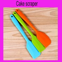Wholesale 100Pcs Small size Wedding Candy Color Silicone Cake Spatula Batter Scraper For Snowflake Cake Tools