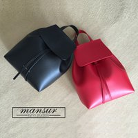 Wholesale 2016 Famous Brand Mansur Gavriel women real leather backpack lady genuine leather backpack leather schoolbag