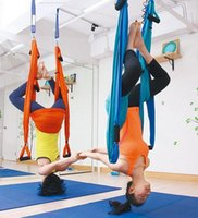 Cheap Wholesale-Yoga Hammock Swing Latest Multifunction Anti-gravity Yoga hamack belts for yoga training YO110407444