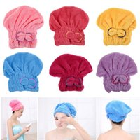 Wholesale 1PCS Home Textile Microfiber Solid Hair Turban Quickly Dry Hair Hat Wrapped Towel Bath Colors Available