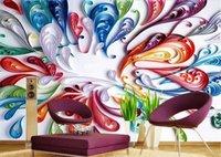 bar swirl - Custom photo Silk D wallpaper for walls D Living sports bars club TV background wall covering Colorful swirl mural wallpaper