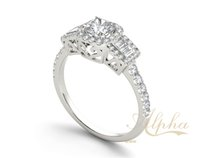 baguette jewellery - Custom fashion baguette jewellery Fine Cubic Zirconia Silver Jewelry With Multiple Images For Your Online Store BER0058
