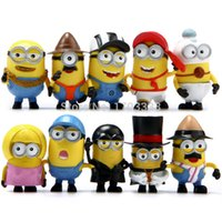 Wholesale Despicable Me Minions PVC Action Figure Toys Movie Character Figures Dolls Cosplay Christmas Gift by DHL sets