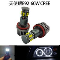 Wholesale 3sets BMW H8 W CREE LED Angel Eye Halo Late Model E90 E92 E60 E70 E71 E76