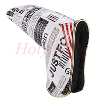 american golf putters - New American Flag Magnet golf putter headcover great PU leather quality newspaper golf head covers