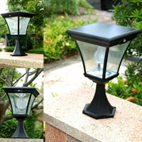 aluminium lampshade - Big Promation High Quality W Aluminium Alloy Body Glass Lampshade LM Outdoor LED Solar Lawn Waterproof Light For Garden