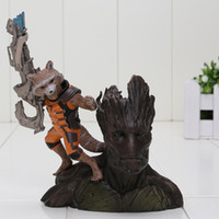 Cheap 14CM Guardians of the Galaxy Groot & Rocket Raccoon Boxed PVC Action Figure Collectible Model Toy in box or bag