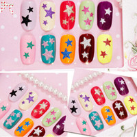 Wholesale Hot D Nail Art Sticker D Glitter Star Designs Colors Available Nail Tips Accessory Decoration Tool