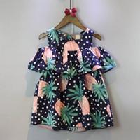 Cheap PrettyBaby 2016 summer girls cake dresses pineapple printed fruit style cotton sleeveless bow girls tutu dress free shipping