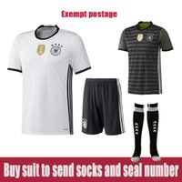 Wholesale 15 to European cup Germany home fans version of white shirt away black reversible football custom colors