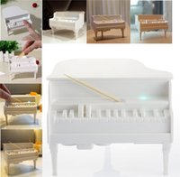 automatically post - Christmas Gift Decoration Piano Toothpick Box Ultraviolet Sterilization and Minutes Automatically Power Off Energy Saving Toothpick Holder