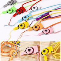 Wholesale Detachable Cell Phone Lanyards Woven Fabric Neck Strap Ring Lanyard Necklace With Colors For Cell Phone Mp3 Mp4 Camera ID Card