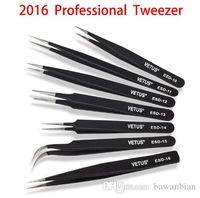 Wholesale Blackhead tweezer acne clip tweezers stainless steel anti magnetic anti static acne tweezer clip beauty tools