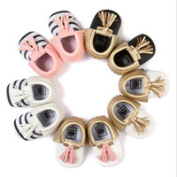 Wholesale Hug Me Baby Girls Boys First Walker Shoes Bow Baby Moccasins New PU Manual Tassel Soft Bottom Shoes MK