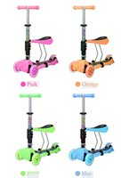 Wholesale Colorful of Children Scooters The New With Music Multi Color Children s Scooter Outdoor Fashion Lifting Folding Scooter Sell Like Hot Cakes