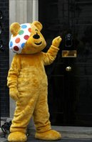 bear theme - Pudsey Bear Mascot Costume Custom Fancy Costume Anime Kits Mascotte Theme Fancy Dress Carnival Costume