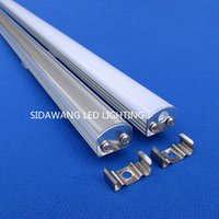 Wholesale 10pcs m per pack Led Aluminium Profile Convoy Led Bar Super Slim mm Channel Recessed Aluminum Profile with Flange Strip