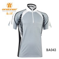 Wholesale Outdoor Fishing Clothing Sunscreen UV Protection Quick drying Short sleeve Shirts sun Sports T shirt BA043