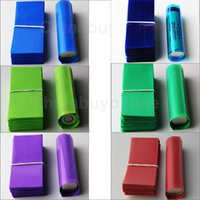 batteries film - 18650 battery heat shrink wrap film PVC insulation Re wrapp tubing for series Li ion battery mm battery shrink label DHL Free
