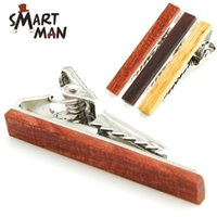 Wholesale Retro wood necktie Clip cm Styles For Business man Necktie father Tie Clip mens tie clip Christmas gift Free TNT FedEx