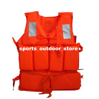 Wholesale Professional Swimwear Working Life Jacket Foam Vest Survival Suit with Whistle for Outdoor Sport Swimming Drifting Fishing Adult H11134