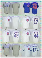 anthony products - New Product Men s Chicago Cubs Baseball Jersey Kris Bryant Anthony Rizzo Jake Arrieta Blank Gray Blue White Stripe Game Jerseys
