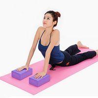 Wholesale EVA Yoga Blocks Practice Fitness Gym Sport Tool Yoga Bricks Foaming Foam Home Exercise Equipment x15x10CM MD0023 kevinstyle