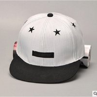 baseball institute - Korea Institute Of Wind Pentacle Hip Hop Baseball Cap Flat Along The Hat Affixed Cloth Letters Children Born In The Summer
